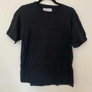 Mango Committed Black T-Shirt